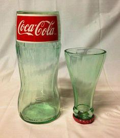 Coca-Cola Soda Pop Bottle Shot Glass Chaser Set. Recycled Glass Bottle. Rum and Coke. by RandomCraftsBySundee, $10.00 USD