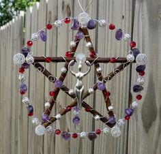 Silver Goddess Pentacle Small Hanging by ElementalEnchantress