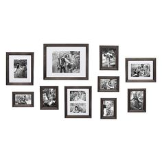 The Kate and Laurel Bordeaux Gallery Wall Kit helps you build a timeless collection that preserves treasured memories and brings your wall to life. Includes distressed grey frames that hold a variety of photo sizes. Frame Wall Collage, Photo Wall Collage, Frames On Wall, Picture Collages, Diy Interior, Interior Design, Cadre Photo Mural, Photo Wall Decor, Photo Wall Displays
