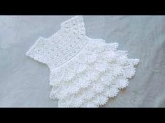 Crochet Baby Dress Pattern, Crochet Baby Cardigan, Baby Girl Crochet, Crochet Baby Clothes, Crochet Flower Patterns, Crochet Woman, Crochet Flowers, Crochet For Kids, Baby Romper Pattern