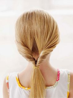 Flip Tail Long Hairstyles For School Girls
