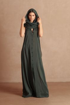 6605ab2fedf43 Transformable long dress in a mixture of cotton