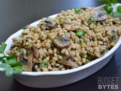 Baked Barley with Mushrooms - Budget Bytes