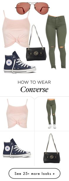 """""""Untitled #694"""" by zeniboo on Polyvore featuring Ray-Ban, Topshop, Converse and GUESS"""