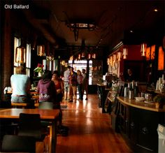 Caffe Fiore Organic Coffee House in Old Ballard, Seattle, WA  {This is where I take out of town guests} # coffee