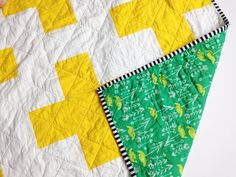 Yellow and green plus quilt