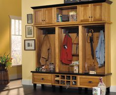 Fieldstone Cabinetry Hudson door style in Hickory finished in Toffee. Kitchen Cabinet Makers, Kitchen Cabinets, Kitchen And Bath Showroom, Entryway Organization, Entryway Ideas, New Home Construction, Jpg, Custom Cabinetry, Mudroom