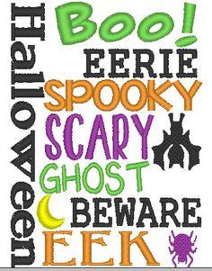 Halloween Subway Art Applique Design by JustSewSweetlyDesign