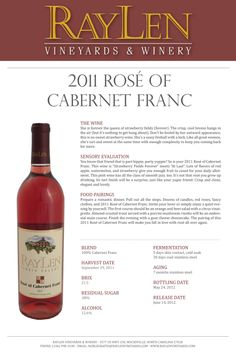 RayLen Vineyards 2011 Rose of Cabernet Franc  #ncwine #yadkinvalley #raylenvineyards
