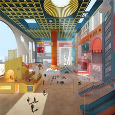 "City Room. Graduation project Vlad Kapustin. Studio ""Meganom"" architectural bureau. Moscow Institute of Architecture, 2016"