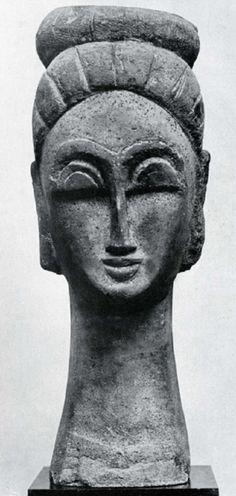 Amedeo Modigliani, 1911 Italian artist Amedeo Modigliani was born today in Amedeo Modigliani, Art Sculpture, Modern Sculpture, Italian Painters, Italian Artist, Karl Schmidt Rottluff, Art Moderne, Pablo Picasso, Land Art