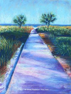 "Fran Redmon Pastel Paintigs - Villa Boardwalk, 9"" x 12"""