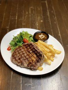 Restaurant and Bar Shrimp Recipes, Food Grade, Steak, Grilling, Food And Drink, Menu, Restaurant, Prawn Recipes, Menu Board Design