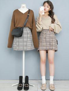 in 2020 Cute Korean Fashion, Korean Fashion Trends, Korean Street Fashion, Korea Fashion, Japan Fashion, Kpop Fashion Outfits, Ulzzang Fashion, Korean Outfits, Girl Fashion
