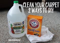 Clean Your Carpet - 2 Ways to DIY via Clean Mama