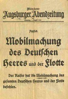 Europeana 1914-1918 - Mobilmachung 1. Aug. 1914