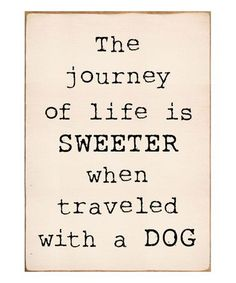 Look what I found on #zulily! Cream 'Journey of Life' Wall Décor #zulilyfinds #DogQuotes