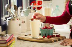 NutraStart Frozen Berry Blast-- 2 scoops NutraStart vanilla flavor, 1 cup frozen berries, 1 cup nonfat vanilla yogurt (Greek yogurt works best), 1 cup milk (coconut, almond, or skim). Put above ingredients into a blender and blend well. Pour ingredients into bar molds and freeze.