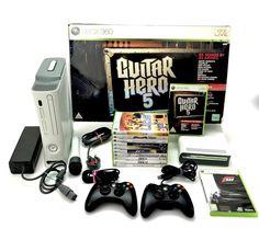 Microsoft Xbox 360 Console Bundle 12 Games Dvd Add On Guitar Hero 5 Mic  gaming Xbox 360 Pro, Xbox 360 Console, Microsoft, Gaming, Guitar, Hero, Ebay, Videogames, Game