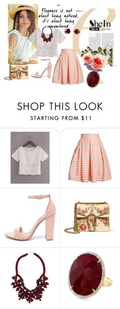 """""""Being Remembered"""" by shassydee on Polyvore featuring Rumour London, Steve Madden, Gucci and Ek Thongprasert"""
