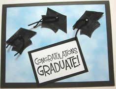 congratulations graduate handmade cards | ... graduation card i saw on the hero arts blog and created the card shown