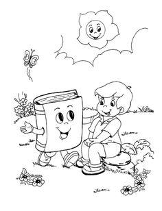 dia del libro thumb Dibujos para colorear del 23 de abril día del libro para niños