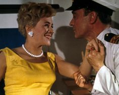 Dilys Laye and Kenneth Connor in Carry On Cruising. 1962