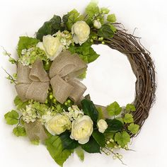 Country Chic Grapevine Wreath