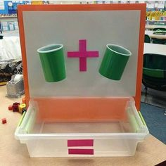 Sweet Sounds of Kindergarten : Math- Addition Cups! Cups have holes in them so that the manipulative a drop through. The kids use white board markers to write the numbers. Kindergarten Classroom, Classroom Activities, Teaching Math, Preschool Activities, Kindergarten Smorgasboard, Educational Activities, Learning Activities, Kids Learning, Math Stations