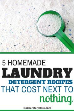 5 affordable and easy-to-make homemade laundry detergent recipes perfect for the frugal homemaker. Save money on laundry with this simple hack. These homemade laundry detergents are extremely simple to make and cost next to nothing! Diy Clothes Detergent, Laundry Detergent Recipe, Homemade Laundry Detergent, Homemade Cleaning Products, Cleaning Recipes, Cleaning Hacks, Powder Laundry Detergent, Laundry Powder, Natural Laundry Detergent