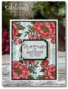 Designed by Artisan Design Team member, Connie Collins for Stampin' Up! using the Birthday Blooms stamp set from the 2016 Occasions Mini Catalog.