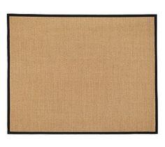 Color-Bound Sisal Rug - Black #potterybarn http://www.potterybarn.com/products/color-bound-sisal-rug-black/?pkey=cnatural-fiber-rugs