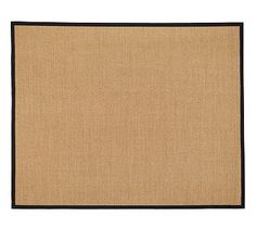 Color-Bound Sisal Rug - Black #potterybarn