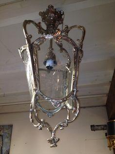 Silver color ceiling lantern