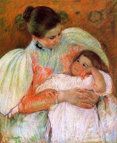 Nurse And Child by Mary Cassatt.
