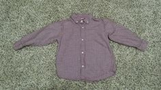 Toddler Boy 3T Gymboree Houndstooth Red Black Holiday Button Down Long Sleeve  #Gymboree #Holiday #Houndstooth #Toddler #Boy #ButtonDown