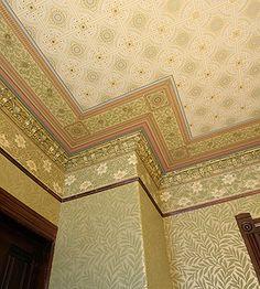 I covet the reproduction wallpapers of Bradbury!    Talbert Roomset Ceiling