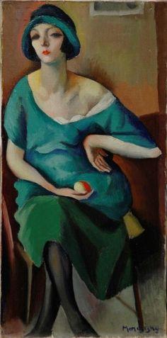 Kiki de Montparnasse, 1920s // painting by Maurice Mendjizky (1890 - 1951). Maurice Mendjizky était ami de Picasso, Renoir, Prévert, Eluard, Soutine, Modigliani et bien d'autres. En 1919 il rencontre Alice Prin qui deviendra Kiki de Montparnasse, avec laquelle il vit pendant trois ans.