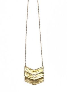 Noonday Collection Stacked Arrows Necklace - brass necklace made by woman in India through fair trade labor
