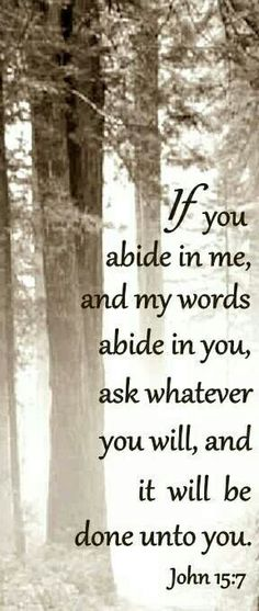 If you abide...