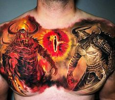 Tiger Wolf Chest Tattoo - Best Chest Tattoos For Men: Cool Chest Tattoo Ideas + Designs Leg Tattoos Women, Best Tattoos For Women, Great Tattoos, Tattoos For Guys, Full Chest Tattoos, Chest Piece Tattoos, Incredible Tattoos, Beautiful Tattoos, Face Tattoos