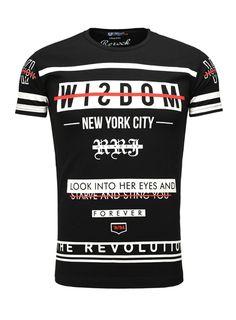ReRock Herren T-Shirt Revolution schwarz