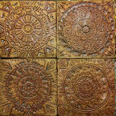 Just found some ceramic tiles I made awhile back. #ceramic #clay #tile #ceramictile #ceramicart #cornersofthesun by cornersofthesun