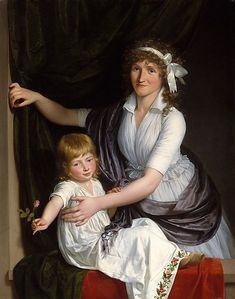 A Mother And Child (the attribution of the painting is uncertain), Jean Laurent Mosnier (1743 – 1808, French) I AM A CHILD - children in art history, blog