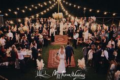 Dramatic entrance of bride and groom to rustic chic Papas grass dinner table - Tuscan Love!