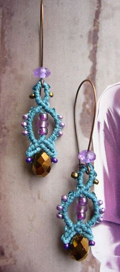 Stoffohrringe - * Ohrhänger Makramée *  - ein Designerstück von crochet bei DaWanda