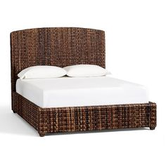 Gorgeous Seagrass Bed & Pottery Barn Headboard With Cool Design
