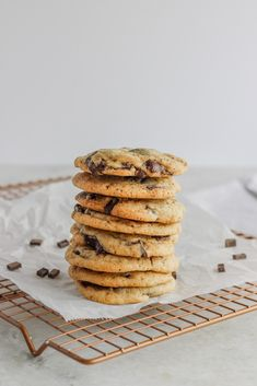 Whats better than a chocolate chip cookie? A chocolate chip cookie with coffee inside! Treat yourself to one or 6 of these! #chocolatechunk #coffee #cookie frostingandfettuccine.com