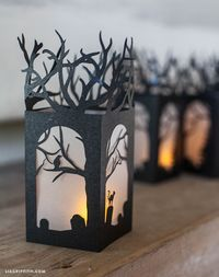 DIY Paper Lanterns for Halloween Decorations - Lia Griffith