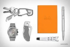 EDC: NOTE Handgrey H4 Keychain ($85).  Triwa Stirling Lansen Chrono Watch ($275).  Rhodia Pad Holder ($12).  Spyderco Manbug G-10 Knife ($135).  Leatherman Brewzer Bottle Opener ($11).  Engineer Series Silver Rollerball Pen ($11). Kiyoko Lip Balm ($18).